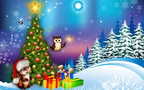 happy new year, Christmas Wallpaper, Christmas Background, New source, Christmas tree