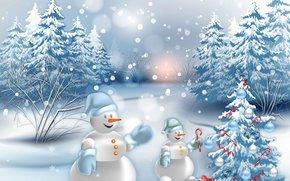 明けましておめでとうございます, クリスマスの壁紙, クリスマスの背景, 新しいソース, 雪だるま