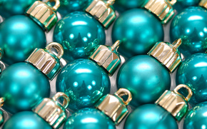 New Year, Christmas decorations, Balls, SLR, turquoise, lot, the consignment, reflection, holiday, shine