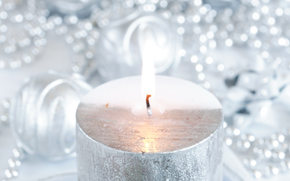 New Year, candle, silver, silver, bokeh, shine, shine, blurry, holiday