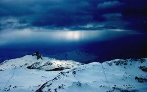 inverno, Montagne, neve, Carta da parati