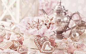 New Year, Christmas, cookies, kettle, Feast, beauty, Yummy, holiday