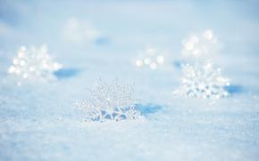 Ano Novo, Natal, Decorações de Natal, Flocos de neve, ornamentação, branco, luz, férias, generosamente