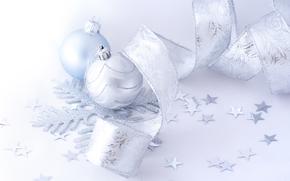 Año Nuevo, Navidad, Decoraciones de Navidad, copo de nieve, ornamentación, blanco, luz, fiesta, generosamente