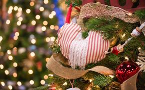 Año Nuevo, corazón, ornamentación, Juguetes, cinta