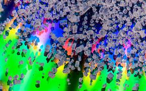 cubetti di ghiaccio, sfondo colorato, STRUTTURA