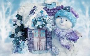 muñeco de nieve, Muñecos de nieve, Año Nuevo, Navidad, fiesta