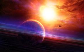 空间, 地球, 3D, 艺术