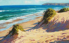 pittura, immagine, olio, strisci, Dipingere, vernici, natura, paesaggio, mare, Graham Gerken