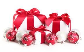 новый год, подарки, подарок, украшения, бантик, бант