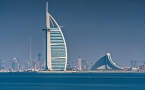 Burj Al Arab, Jumeirah Beach Hotel, Persian Golf, Dubai, UAE, Burj Al Arab, Jumeirah Beach Hotel, Persian Gulf, Dubai, UAE, sea, coast, Hotels, building, Skyscrapers