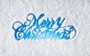 новогодние обои, заснеженное стекло, надпись, с новым годом