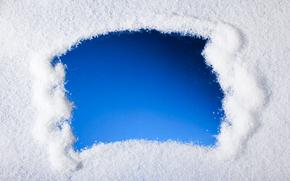 Sfondi di Natale, vetro coperto di neve, iscrizione, Struttura di natale