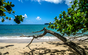 Kauai Island, Hawaiian Islands, sea, shore, landscape