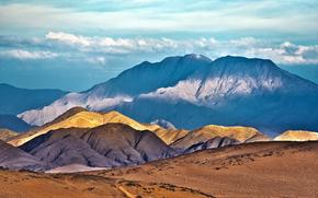 Горы, Кунене, Африка, Намибия, пейзаж, пустыня, небо