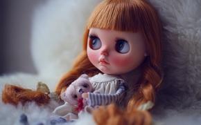 игрушки, кукла, рыжая