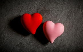 heart, hearts, couple, Macro