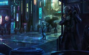 Reign satelit, Roboți, oraș