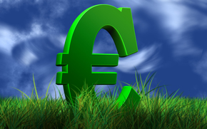 money, euros, finance, currency, sign, sky, grass, graphics