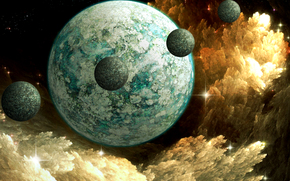 space, Planet, 3d, art