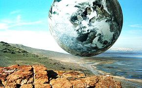 espacio, Planeta, 3d, arte