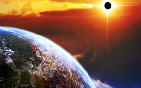 miejsce, Planeta, 3d, sztuka