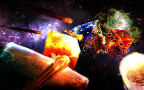 espaço, 3d, arte