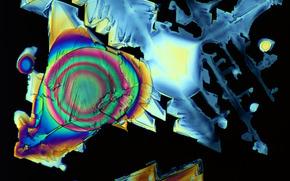 кристаллы под микроскопом, кристалл, микроскоп, увеличение, фото, структура, наука, исследования