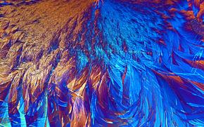 cristales bajo el microscopio, cristal, microscopio, aumentar, foto, estructura, ciencia, investigación