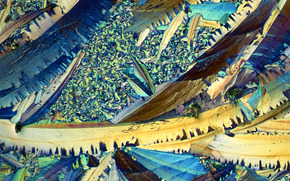 crystals under the microscope, crystal, microscope, increase, photo, structure, science, research