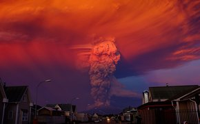 eruption, Calbuco, volcano, Los Lagos, Chile