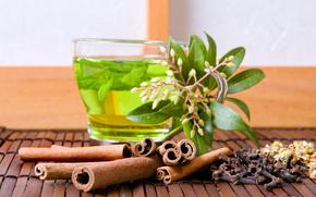 tè verde, tazza, impianto