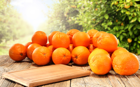 tabla, tangerinas, tsytrusy, comida