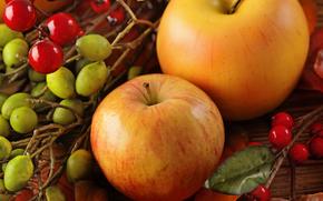 manzanas, frkty, comida, tabla