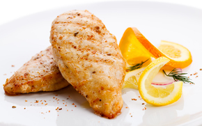 FISH, Fried, Breaded, Lemon, food, protein