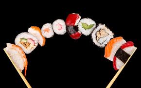 суши, роллы, азиатская кухня, рис, морепродукты, белок, еда