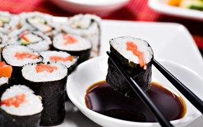 суши, роллы, азиатская кухня, рис, белок, еда