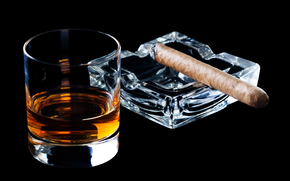 whiskey, Bakal, cigar