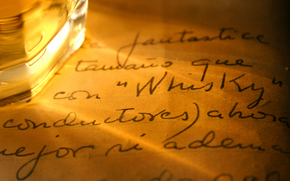 Bakal, whiskey, letter