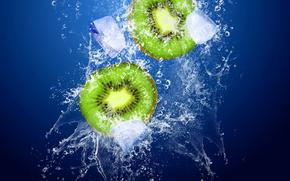 kiwi, ice, spray