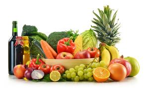 vegetables, fruit, food