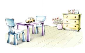 interno, grafica, disegno, progetto, mobili, sfondo bianco