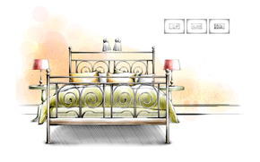 interior, graphics, drawing, project, furniture, white background