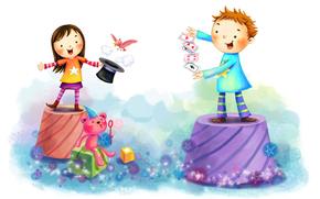 дети, рисунок, графика, детский рисунок, детское, белый фон, сюжет