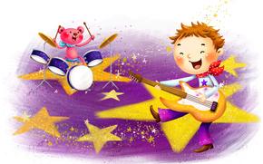 niños, dibujo, gráficos, dibujo infantil, niños, fondo blanco, historia