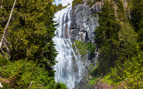 waterfall, waterfalls, nature, landscape, summer, Mountains