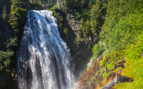 waterfall, waterfalls, nature, landscape, summer