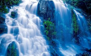 waterfall, waterfalls, nature, landscape, summer