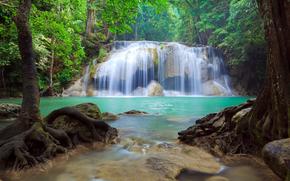 водопад, водопады, природа, пейзаж, лето
