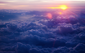 небо, облака, закат, пейзаж